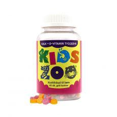 [重庆保税区]Kids Zoo Kalk+ D Kanin 60Stk. 丹麦儿童动物乐园钙+D维他命60粒